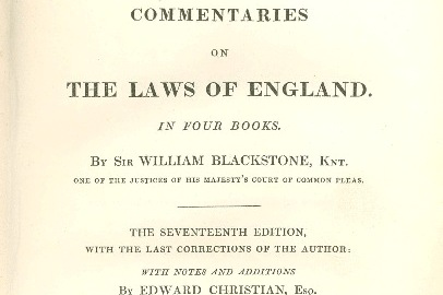 Blackstone: Commentaries on the Laws of England #4 | Liberty Pundits