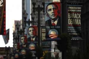 Obama-banners-outside-Chicago-city-hall